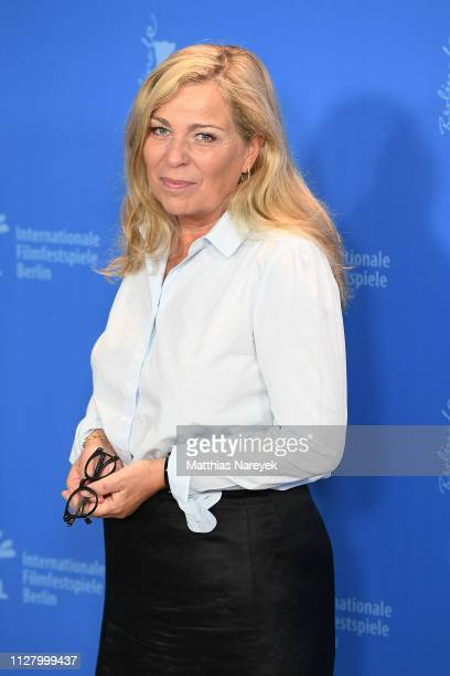 Lone Scherfig poses at the The Kindness Of Strangers photocall during the 69th Berlinale International Film Festival Berlin at Grand Hyatt Hotel on...