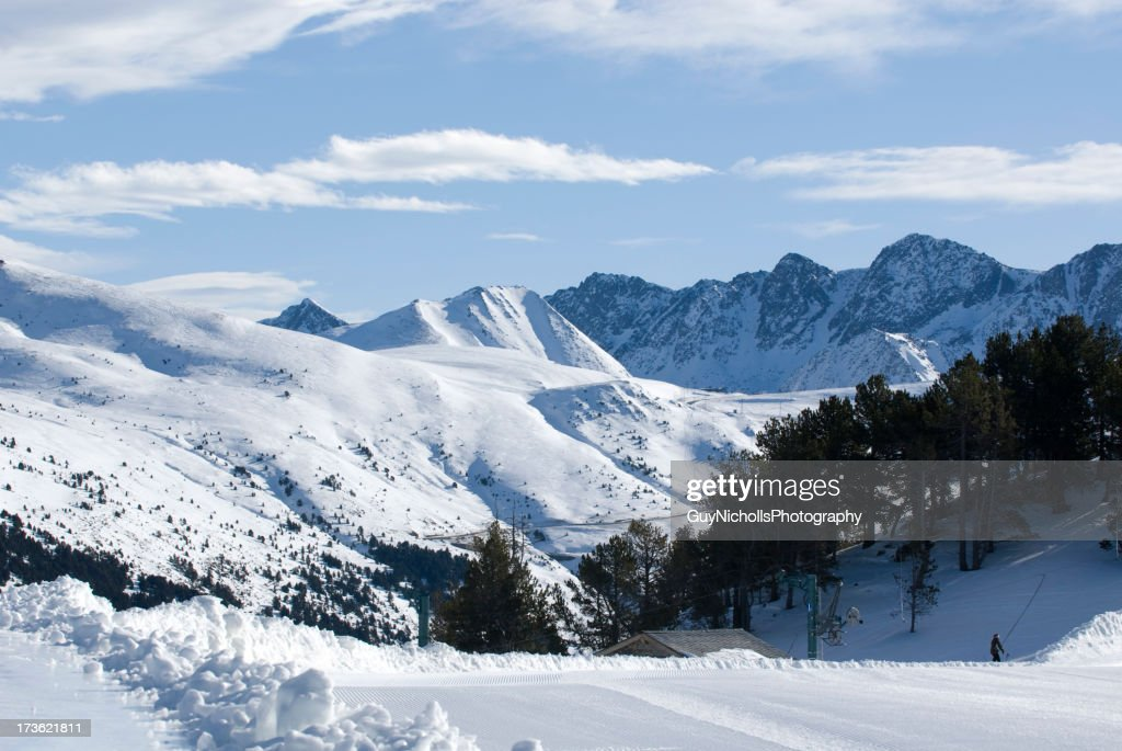 Lone Skier : Stock Photo