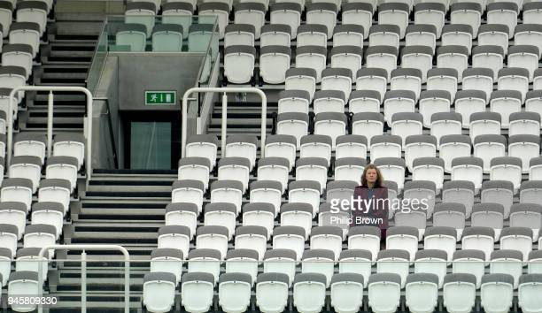A lone spectator watches the match from the Warner stand during day one of the Specsavers County Championship Division Two cricket match between...