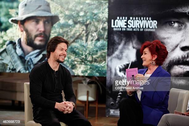 'Lone Survivor' film stars Mark Wahlberg shown Taylor Kitsch Emile Hirsch visit THE TALK Friday January 10 2014 on the CBS Television Network Mark...