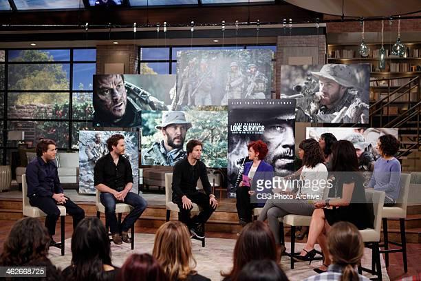 'Lone Survivor' film stars Mark Wahlberg Taylor Kitsch Emile Hirsch visit THE TALK Friday January 10 2014 on the CBS Television Network Emile Hirsch...