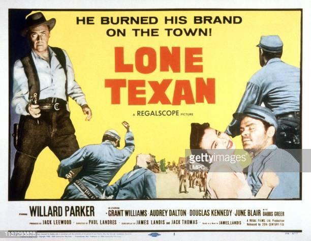 Lone Texan lobbycard Willard Parker Audrey Dalton Grant Williams 1959