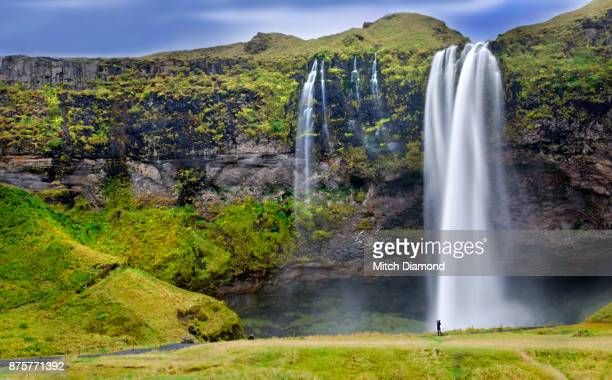 Lone Tourist at Seljalandsfoss