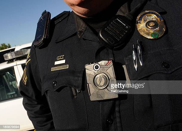 Lone Tree Patrol Sergeant John Crowley showed the Denver Post the Taser Axon camera that will be issued to all officers to record their interactions...