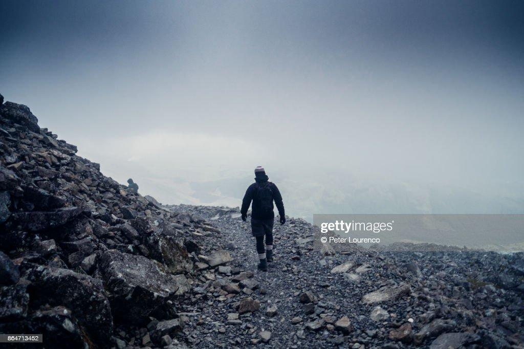 Lone walker : Stock Photo