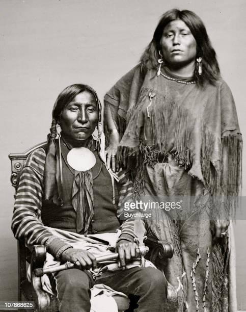 Lone Wolf and his wife Etla Kiowa Indians 1860