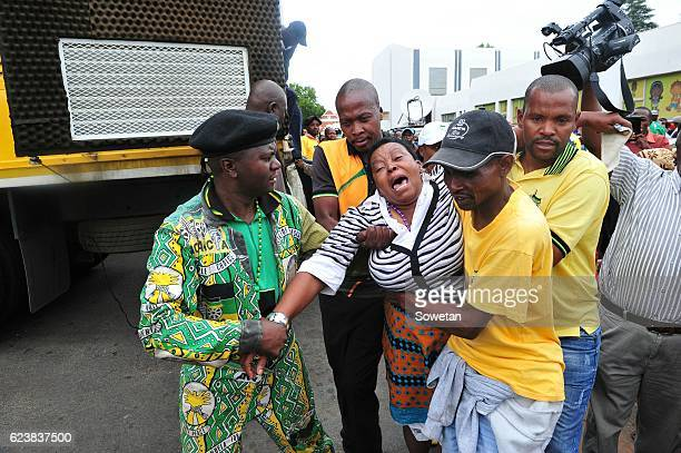 Lonea Mlotshwa mother of victim Rethabile Victor Mlotshwa breaks down during Theo Jackson and Willem Oosthuizens appearance at the Middelburg...