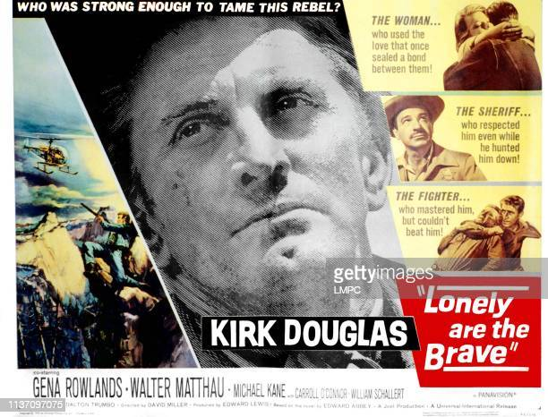 Lonely Are The Brave poster Kirk Douglas Gena Rowlands Walter Matthau 1962