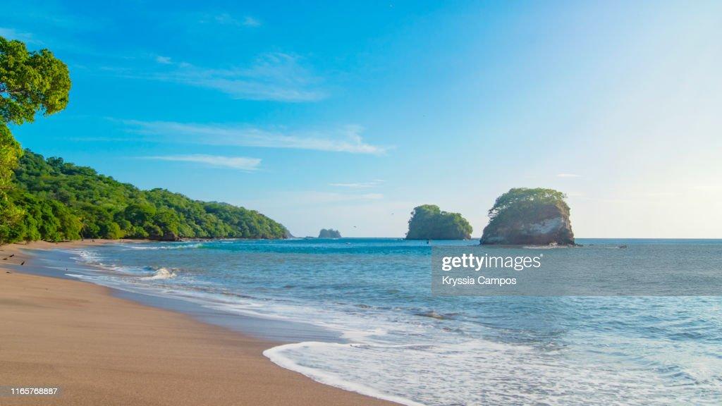 Lonely Beach Scenery in Guanacaste - Costa Rica : Stock Photo