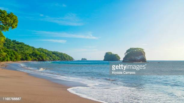 lonely beach scenery in guanacaste - costa rica - guanacaste stock pictures, royalty-free photos & images