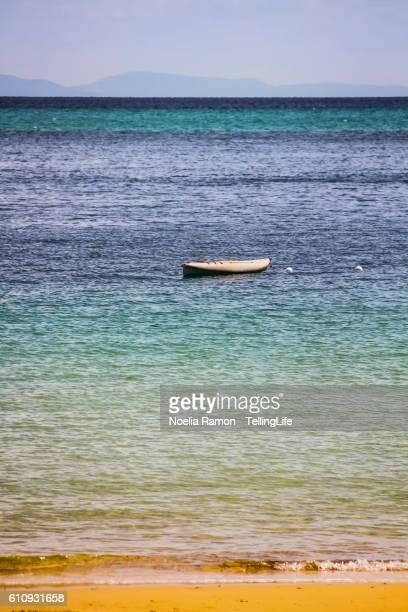 A lonely boat in Moreton island, Australia