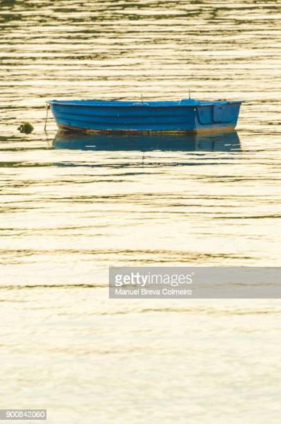 A lonely boat in Ria de Arousa, Galicia