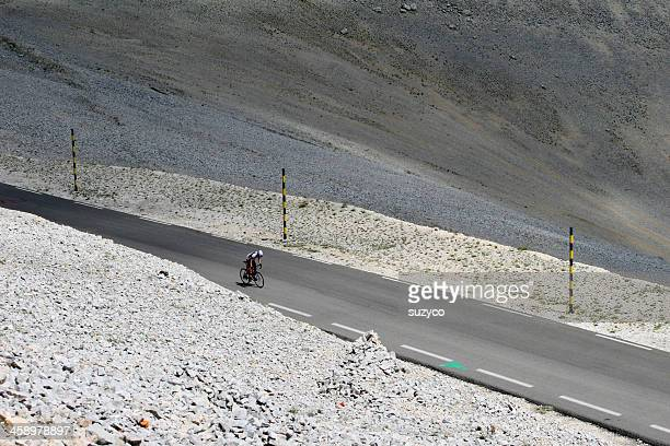lonely cyclist to Mont Ventoux