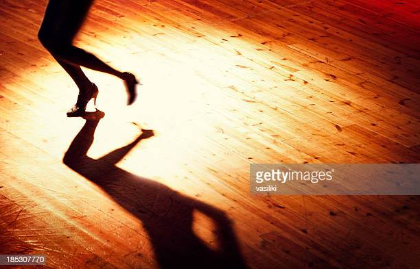 lonely dance - salsa dancing stock photos and pictures