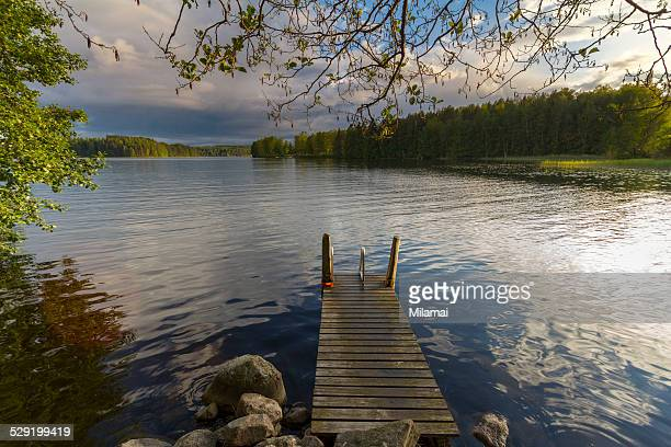 Lonely dock on a lake
