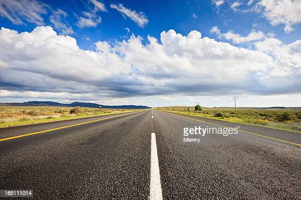Lonely Highway through South Africa Landscape