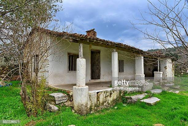 lonely house near magnesia theatre - emreturanphoto stock pictures, royalty-free photos & images