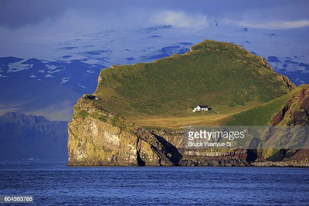 A lonely house on Ellidaey Island