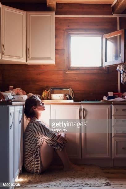Einsam Hausfrau