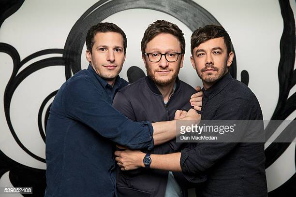 Lonely Island are photographed for USA Today on May 4 2016 in West Hollywood California