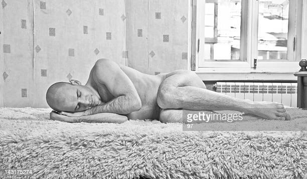 lonely man - naturist male stock pictures, royalty-free photos & images