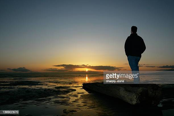 XL lonely man silhouette