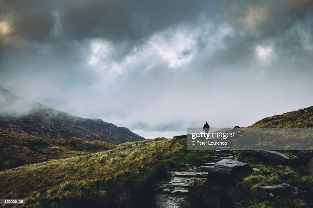 A lonely path : Stock Photo