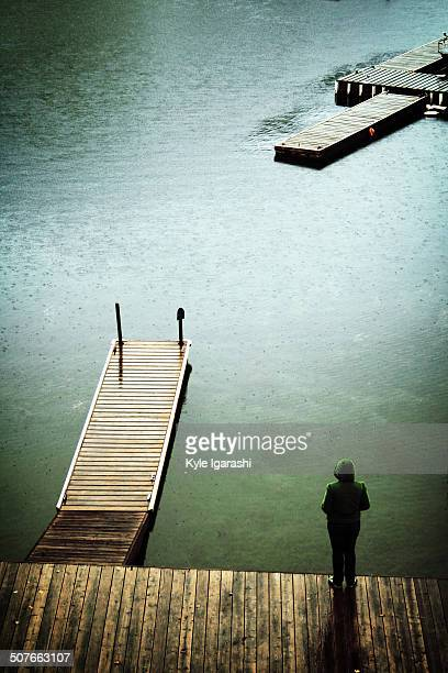 Lonely person by the water