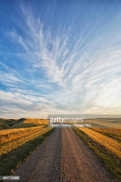 A Lonely Road Goes Off Into The Distance In Grasslands National Park