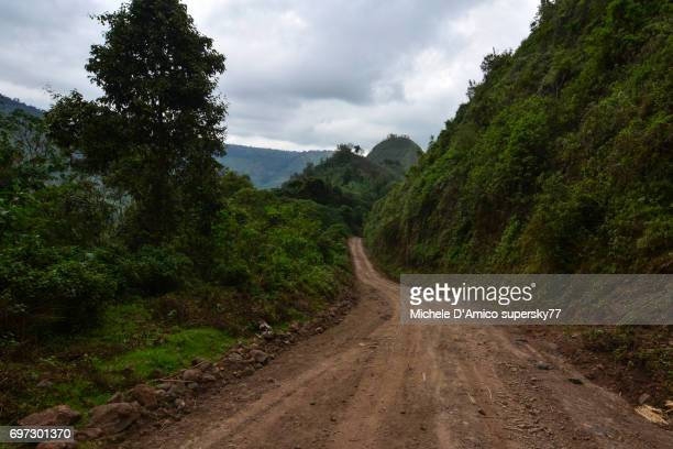 lonely road in the rift valley escarpment - steep stock photos and pictures