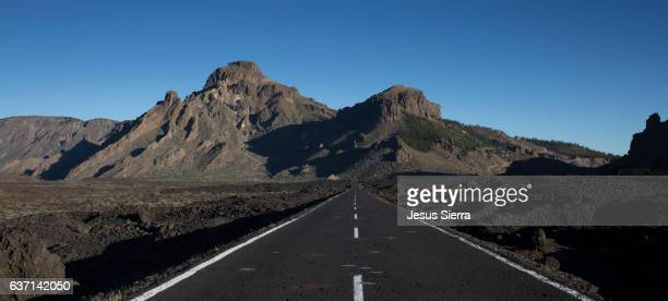 Lonely road in the Teide National Park.