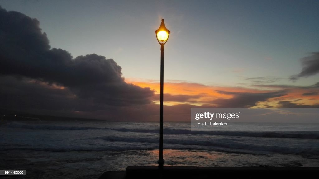 Lonely streetlight : Foto de stock