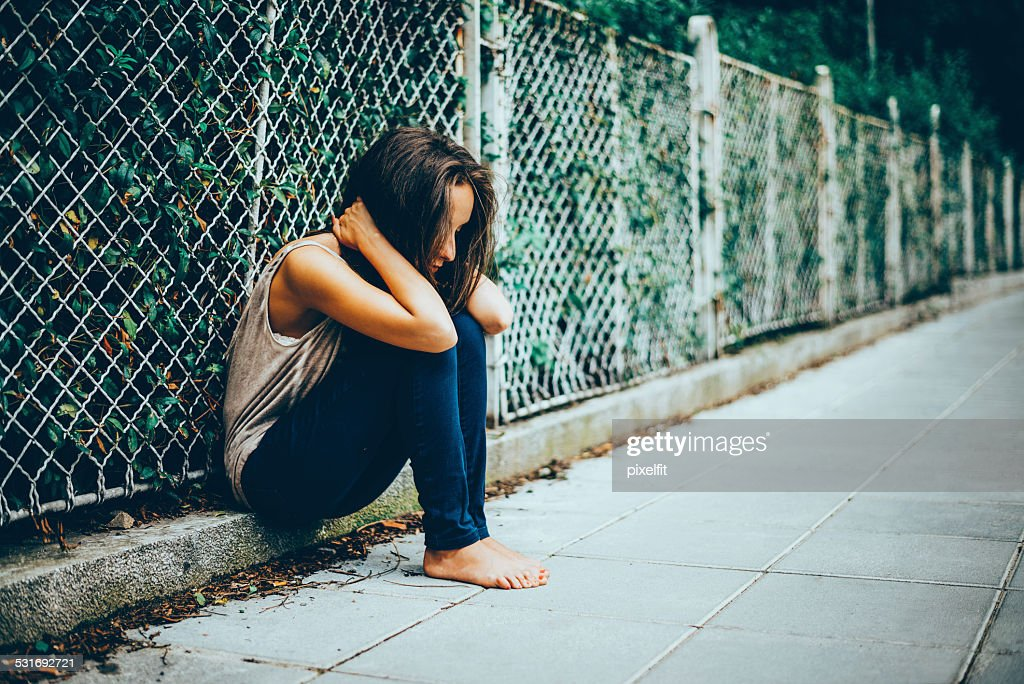 Lonely Teenager Depression : Stock Photo