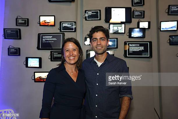 Lonely Whale Foundation's Dune Ives and Adrian Grenier attend Social Good Celebration At The #DellLounge Featuring A Performance By THE SKINS...