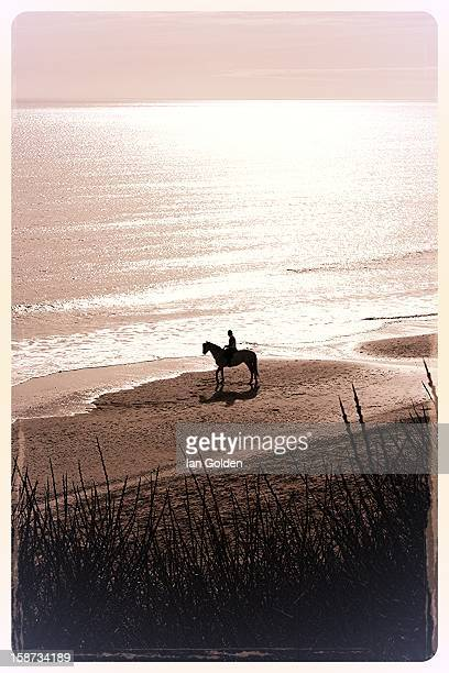 CONTENT] Lonesome rider captured from the dunes of the beach County Wicklow Ireland