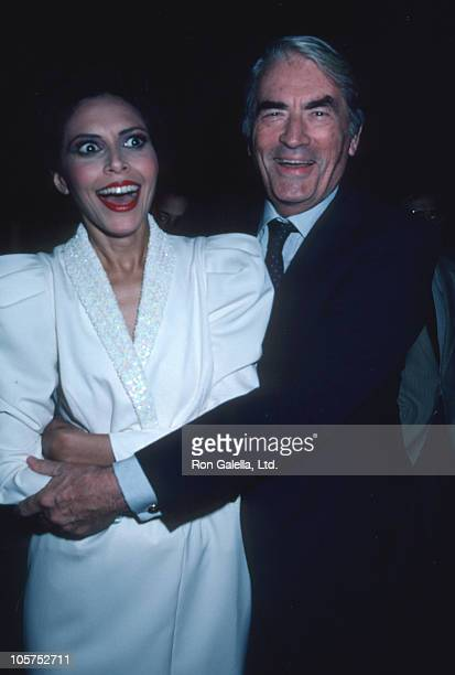 Lonette McKee and Gregory Peck during Gregory Peck at Westside Arts Theater September 9 1986 at Westside Arts Theater in New York City New York...