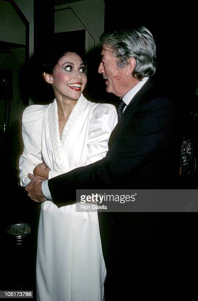 Lonette McKee and Gregory Peck during 'Lady Day' At The Westside Arts Theater at Westside Arts Theater in New York City New York United States