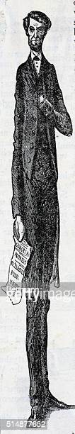 'Long Abe a Little Longer' Cartoon by Frank Billew 1864 After President Lincoln's reelection BPA2# 2858