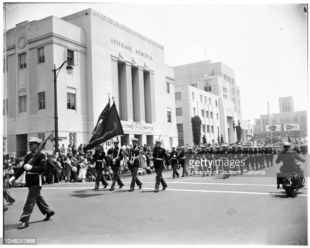 Long Beach Armed Forces Day Parade 17 May 1952 Molly Fish 16 QueenCaption slip reads 'Photographer Emery Date Reporter Emery to RW 28 United States...