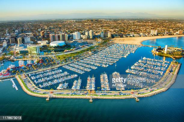 long beach california aerial - long beach california stock pictures, royalty-free photos & images