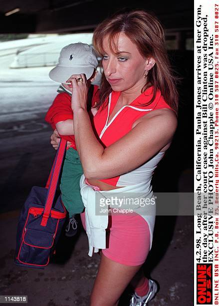 4298 Long Beach California Paula Jones arrives at her gym the day after her court case against Bill Clinton was dropped