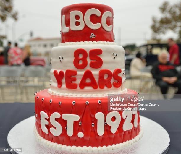 BEACH CALIF USA Long Beach City College 85th Birthday Cake On The Steps Of WIlson High