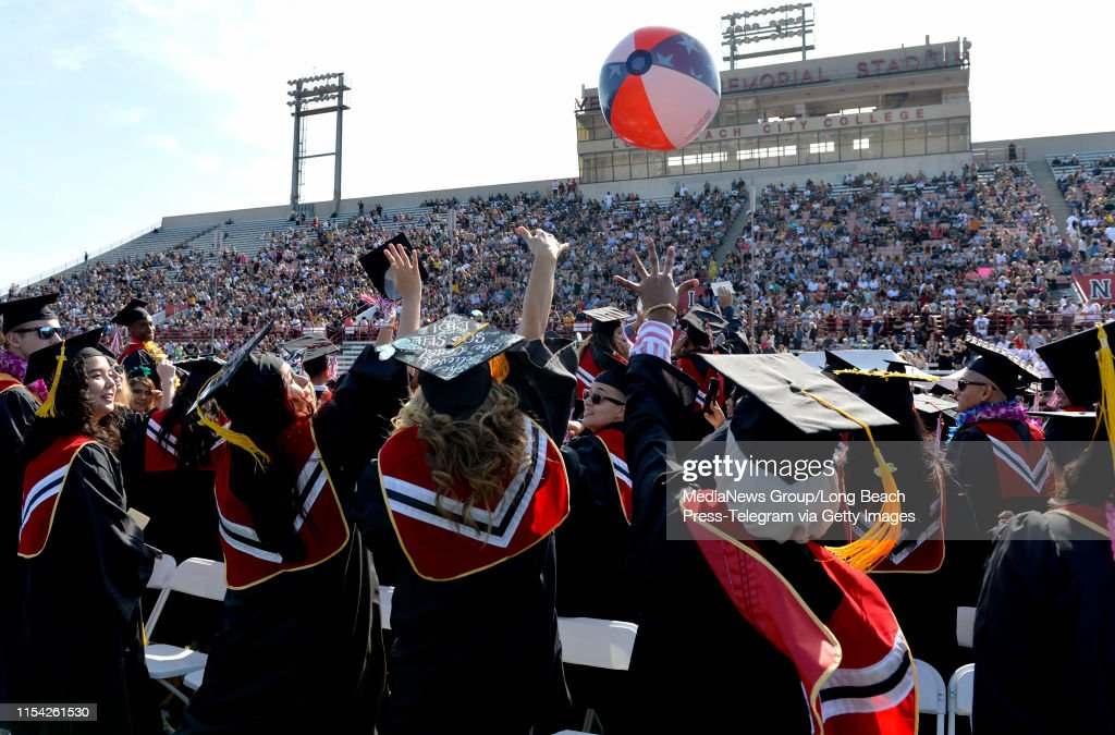 Long Beach City College graduation ceremony : News Photo