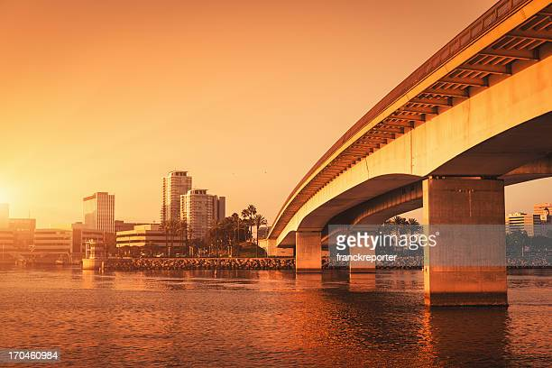 long beach cityscape - long beach california stock pictures, royalty-free photos & images