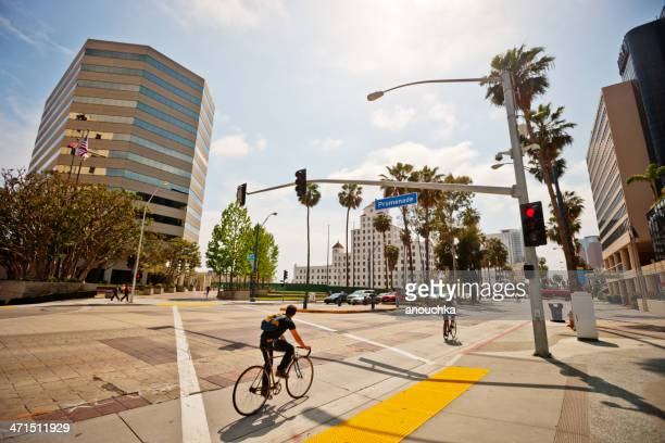 long beach downtown district, california, usa - long beach california stock photos and pictures
