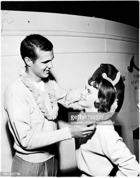 Long Beach graduation 19 June 1958 CruiseCaption slip reads 'Printed Photographer Emery Date Reporter Emery to rw AssignmentGraduation cruise 46 At...