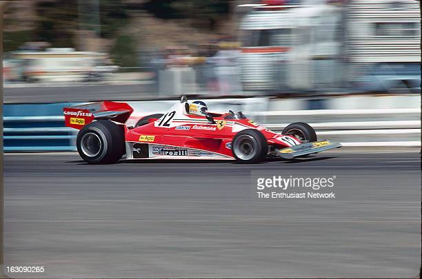 Long Beach Grand Prix Carlos Reutemann of Scuderia Ferrari drives the Ferrari 312T