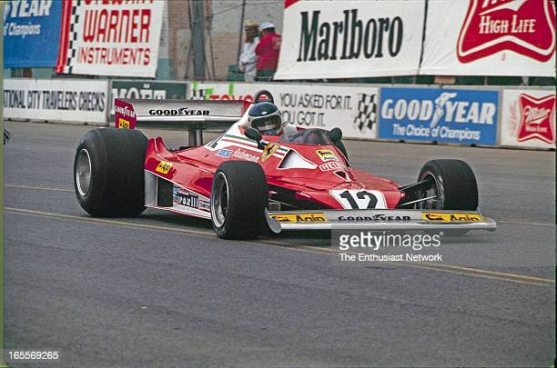 Long Beach Grand Prix Carlos Reutemann of Scuderia Ferrari driving successful 312T