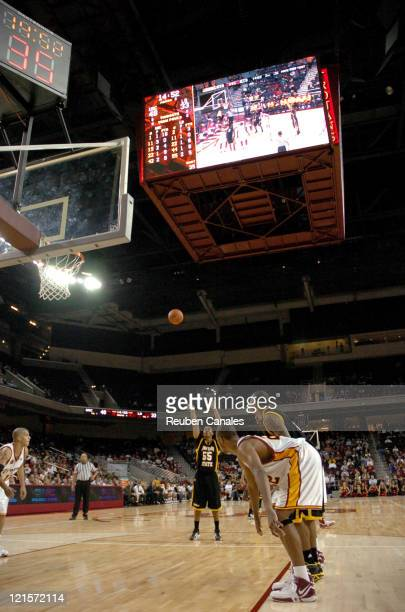 Long Beach State 49ers guard Aaron Nixon in a 79 to 61 loss to the USC Trojans on November 24 2006 at the Galen Center in Los Angeles California