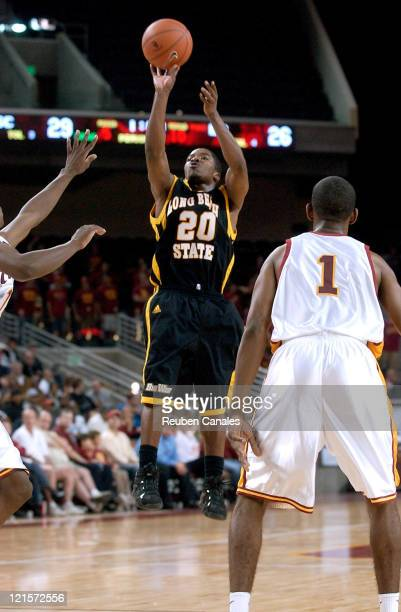 Long Beach State 49ers guard Kevin Houston in a 79 to 61 loss to the USC Trojans on November 24 2006 at the Galen Center in Los Angeles California